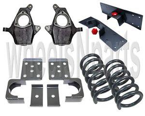 "4""/6"" Drop Kit Spindles Springs Flip Notch For 99-06 Chevy Silverado 1500 V8 2wd"