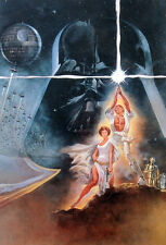 STAR WARS REPRO FILM MOVIE POSTER . THEATRICAL ONE SHEET VERSION A . NOT DVD