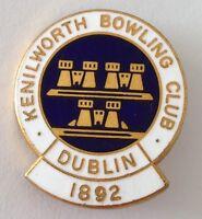 Dublin Kenilworth Bowling Club Badge Pin Est 1892 Rare Vintage (M18)