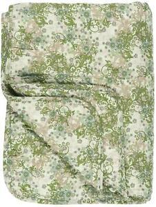 IB Laursen Plaid Decke Quilt Sofadecke Grün Beige Braun 130 x 180cm Tagesdecke
