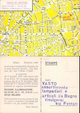 ROSSINI ILLUMINAZIONE  ,CARTOLINA PUBBLICITARIA ANNI 60 -48019