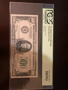 $500 Five Hundred Dollar Bill Choice About New 58PPQ Graded By PCGS Currency