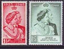 Aden Quaiti 1948 SC 14-15 MH Set Silver Wedding
