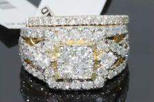 3.28 CARAT 10K YELLOW GOLD REAL DIAMOND ENGAGEMENT RING WEDDING BAND BRIDAL SET