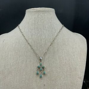 Barse Tesserae Petal Necklace- Turquoise & Sterling Silver- NWT