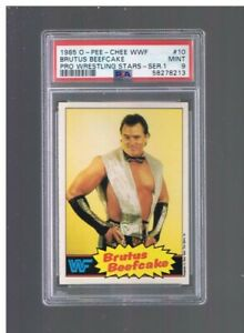 1985 OPC WWF Wrestling Brutus Beefcake PSA 9 MINT