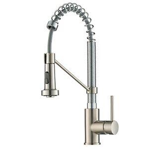 KRAUS Bolden Single-Handle Pull-Down Sprayer Kitchen Faucet SS Chrome