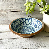 Antique Chinese Batavia Ware Pottery Bowl - Circa Late 1800s - Qing Dynasty