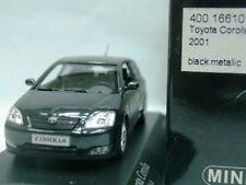 WOW EXTREMELY RARE Toyota Corolla IX Hatchback 3d 16V 2001 Black 1:43 Minichamps