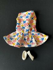 """Sindy Trendsetter dress 1985 Pedigree 42010 + white bow shoes fit 12"""" doll"""