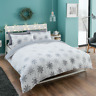 Snowflake Duvet Cover Set Double Size Flannelette Bedding 100% Brushed Cotton