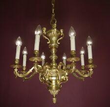 """ANTIQUE GOLD BRONZE MAZARIN 8 LIGHT FRENCH CHANDELIER VINTAGE LAMP Ø 26"""""""