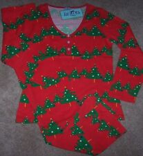 NWT Bedhead BHPJ's Red/Green CHRISTMAS TREES Jersey Knit Pajamas Set XL BH PJS