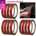 Lot Auto Truck Car Acrylic Foam Double Sided Attachment Tape Adhesive 3m x 10mm