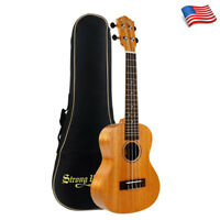 Classic Soprano Ukulele 21 Inch Mahogany Hawaiian Guitar Uke with Padded Bag