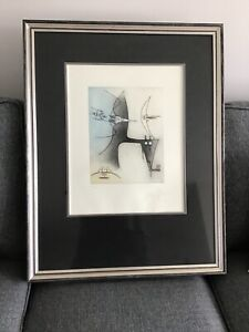 Wifredo Lam cuban Master etching and aquatinte couleur. numbered and signed .