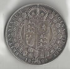 GREAT BRITAIN, 1890, HALF CROWN, SILVER, KM#764, CHOICE EXTRA FINE