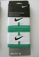 Nike Dri-Fit Stealth Wristbands Tennis Spring Leaf/White Mens Women's Osfm