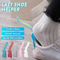 4Pcs Unisex Lazy Shoe Helper Handled Shoe Horn Easy on & Off Lifting Helper USA
