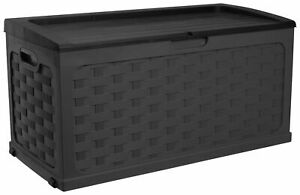 McGregor 280L Rattan Storage Box - Black