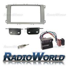 Ford Focus MK2 2007+ Doble Din Stereo Radio Kit de montaje de sonido envolvente Plata Fascia