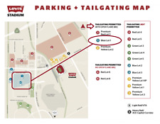 10/21 San Francisco 49ERS Los Angeles RAMS Prepaid PARKING  Tailgate OK BLUE LOT