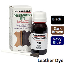 TARRAGO Penetrating Leather Dye KIT For Leather Shoes Boots Restore Colour 50ml