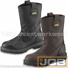 JCB TRACKPRO Waterproof Leather Work Safety Rigger Boots Steel Toe Cap Mid Sole