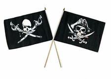 "12x18 12""x18"" Wholesale Combo Pirate Brethren Coast & Deadman's Chest Stick Flag"