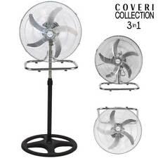 Ventilatore 3in1 Piantana Da tavolo Parete 3 Velocita Oscillazione 50W Pale 50cm