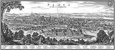 Carte antique Merian 1620 paris plan de ville vieux grand imprimé Poster réplique pam1054
