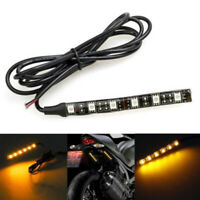 Universal 6 LED Flexible Mini Strip Led Motorcycle Turn Signal Amber Light Strip
