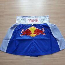 Red Bull New Muay Thai Kick Boxing Shorts Sport Wear Fighting Blue Popular
