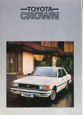 Toyota Crown 2800 Super Saloon 1982-84 original UK Sales Brochure in a folder