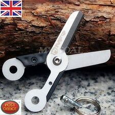 Mini Survival Outdoor EDC Spring Scissor Pocket Tool Stainless Steel Key Chain