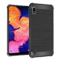 """Coque Etui Silicone Souple Fibre Carbone Brossé Samsung Galaxy A10 6.2"""" SM-A105F"""
