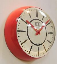 ACCTIM 'BONN' Retro Style Plastic Case Wall Clock with Domed Lens 22023