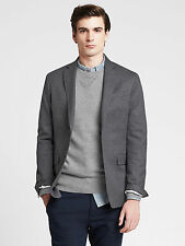 NWT Banana Republic Men's Tailored Textured Blazer Color Gray Size 42S