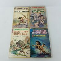 Edgar Rice Burroughs Ace F Series Vintage Lot of 4 Books - Tarzan, SF, MMPB