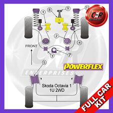 Skoda Octavia 1 1u 2x2 Powerflex Completa Bush Kit-De Gasolina Modelos