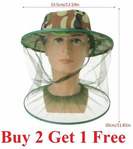 Anti-Mosquito Bug Bee Insect Head Net Hat Cap Sun Protection Fishing Hiking