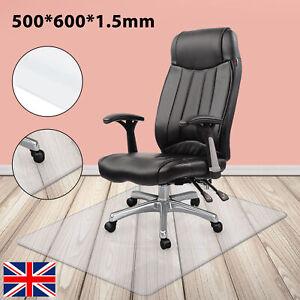 Non Slip Home Office Chair Desk Mat Floor Carpet Protector PVC Plastic Clear New
