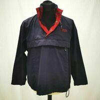 Mens Ralph Lauren Vintage Chaps 1/4 Zip Up Blue And Red Jacket Size M
