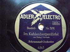W/13/13 gomme laque plaque au kahlenbergerdörfel WEANER MAD 'LN Schrammel-Orchestre