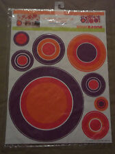 YOUR ZONE PEEL AND STICK REUSABLE WALL ART, SET OF 3 SHEETS, APPROX. 24 STICKERS