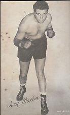 Joey Maxim Boxing Exhibit Card 1950s