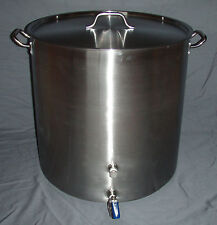 26 Gallon Stainless Kettle 104 Qt Stock Pot Home Brewing Beer Wine Cider Mead