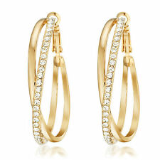 US 18K Gold Filled Big Hoop Pierced Earring 032