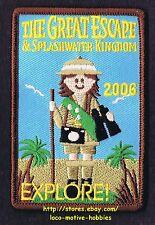 LMH PATCH Badge 2006 GREAT ESCAPE & Splashwater Kingdom  GIRL SCOUTS Explore GSA