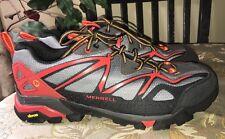 Merrell Mens Capra Sport Gore-Tex Hiking Shoe Light Grey Red Size 12 M US $125